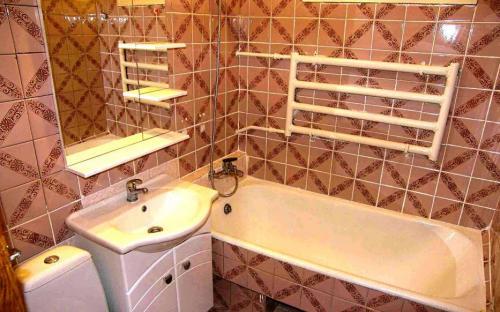 Санузел, 2-х комнатная квартира в центре Анапы