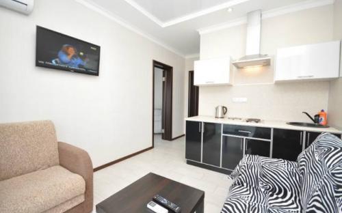 Двухкомнатные апартаменты с кухней и 2мя балконами