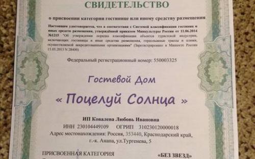 """Гостевой дом """"Поцелуй солнца"""" Анапа"""